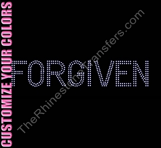 FORGIVEN - Double Line - CUSTOMIZE YOUR COLORS - Rhinestone Transfer