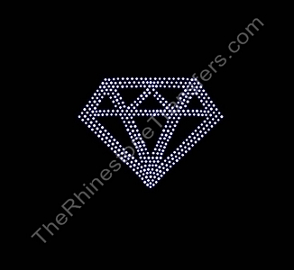 Diamond - 4 Inch - CUSTOMIZE YOUR COLORS - Rhinestone Transfer