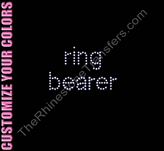 Ring Bearer - All Lower Case - Rhinestone Transfer