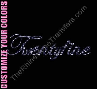 Twentyfine - Script - CUSTOMIZE YOUR COLORS - Rhinestone Transfer