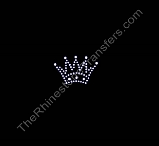 Crown - Simple - CUSTOMIZE YOUR COLORS - Rhinestone Transfer
