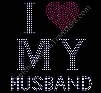 I Heart My Husband - Large - Rhinestone Transfer
