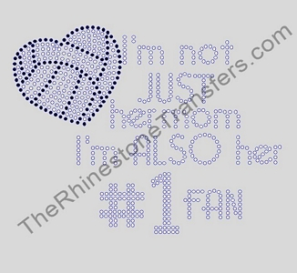 I'm Not Just Her Mom I'm Her Biggest Fan - Volleyball Heart - Rhinestone Transfer