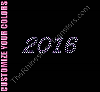 2016 - CUSTOMIZE YOUR COLORS - Rhinestone Transfer