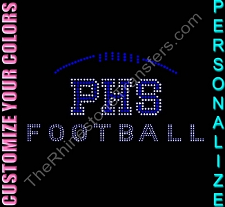 YOUR SCHOOL Football - Personalized - CUSTOMIZE YOUR COLORS - Spangle Transfer