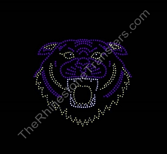 Tiger Face - Outline - Small - Rhinestone Transfer