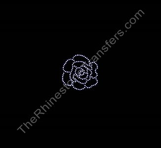 Rose - Small - Rhinestone Transfer