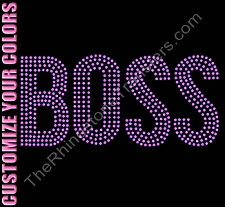 BOSS - 4 Rows of Stones - CUSTOMIZE YOUR COLORS - Rhinestone Transfer