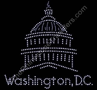 Washington DC - With Capitol Building - Rhinestone Transfer