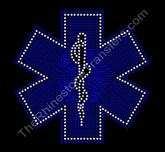Medical Symbol - Filled - Rhinestone Transfer