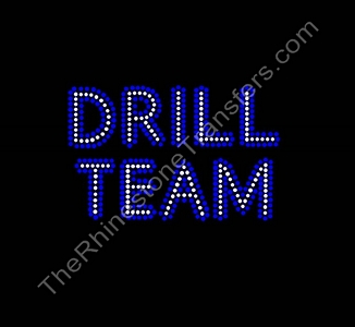 DRILL TEAM - Cobalt Outline - Rhinestone Transfer