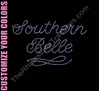 Southern Belle - CUSTOMIZE YOUR COLORS - Rhinestone Transfer