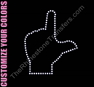L - Sign Language - CUSTOMIZE YOUR COLORS - Rhinestone Transfer