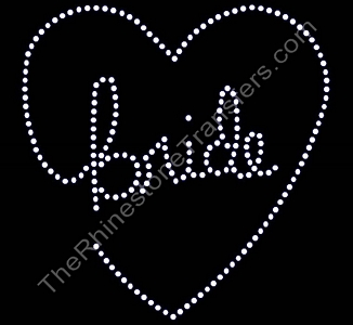 Bride - In Heart - Rhinestone Transfer