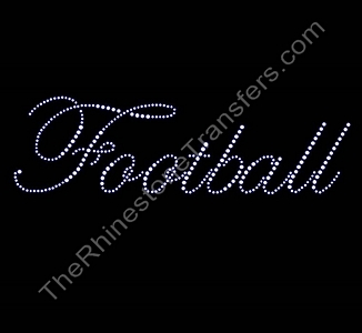 Football - Fancy Script - Rhinestone Transfer