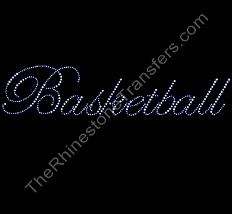 Basketball - Fancy Script - Rhinestone Transfer