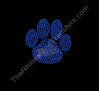 Paw with Pride Text - Rhinestone Transfer