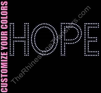 HOPE - Outilned - CUSTOMIZE YOUR COLORS - Rhinestone Transfer