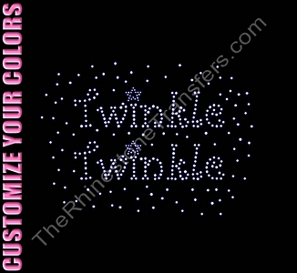 Twinkle Twinkle - CUSTOMIZE YOUR COLORS - Rhinestone Transfer