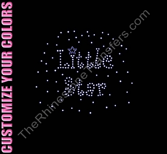 Little Star - CUSTOMIZE YOUR COLORS - Rhinestone Transfer