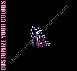 Shoes - 2.5 Inches - CUSTOMIZE YOUR COLORS - Rhinestone Transfer