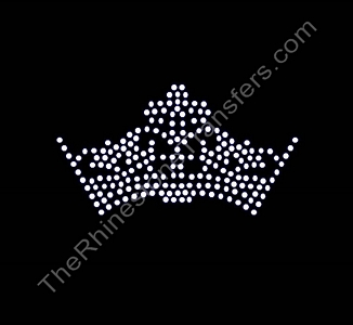 Fancy Crown - 6 Inches - Rhinestone Transfer