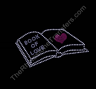 Book Of Love - With Heart - Rhinestone Transfer