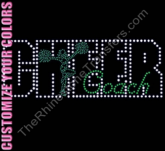 Cheer Coach - With Cheerleader - CUSTOMIZE YOUR COLORS - Rhinestone Transfer