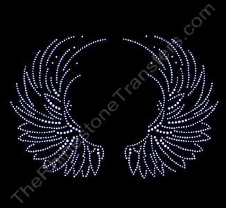 Circular Open Wings - Rhinestone Design File Download