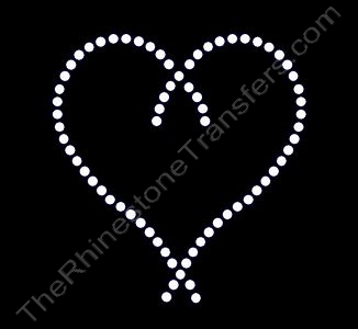 Heart String - Rhinestone Transfer