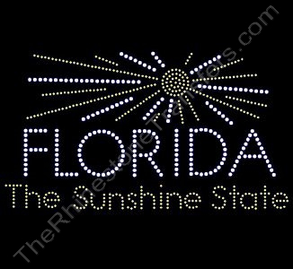 Florida The Sunshine State - Rhinestone Transfer