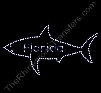 Florida with Shark - Rhinestone Design File Download