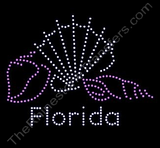 Florida with Sea Shells - Rhinestone Transfer
