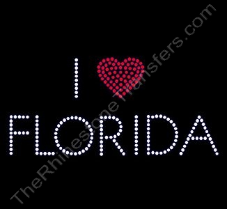 I Heart FLORIDA - Rhinestone Transfer