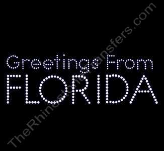 Greetings From FLORIDA - Rhinestone Transfer