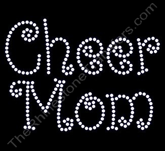 Cheer Mom - Curlz Font - Rhinestone Design File Download