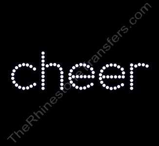 cheer - All Lower Case - Spangle Transfer