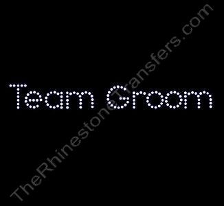 Team Groom - Rhinestone Transfer