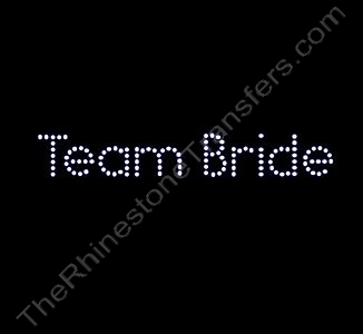 Team Bride - Rhinestone Transfer