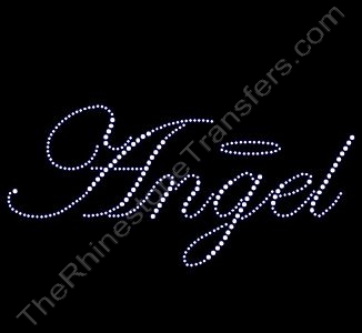 Angel with Halo - Rhinestone Design File Download